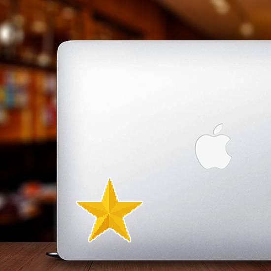 8 Bit Gold Star Sticker