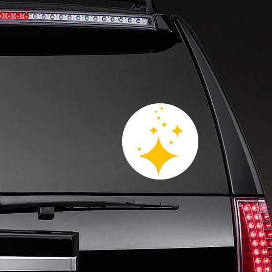 Brilliant Stars Sticker on a Rear Car Window example