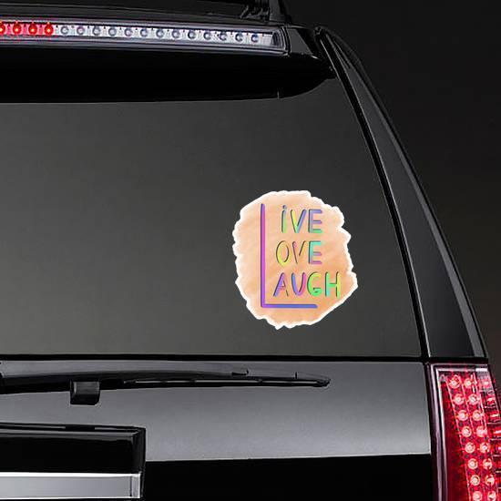 Rules Of Three L: Live, Love, Laugh Sticker
