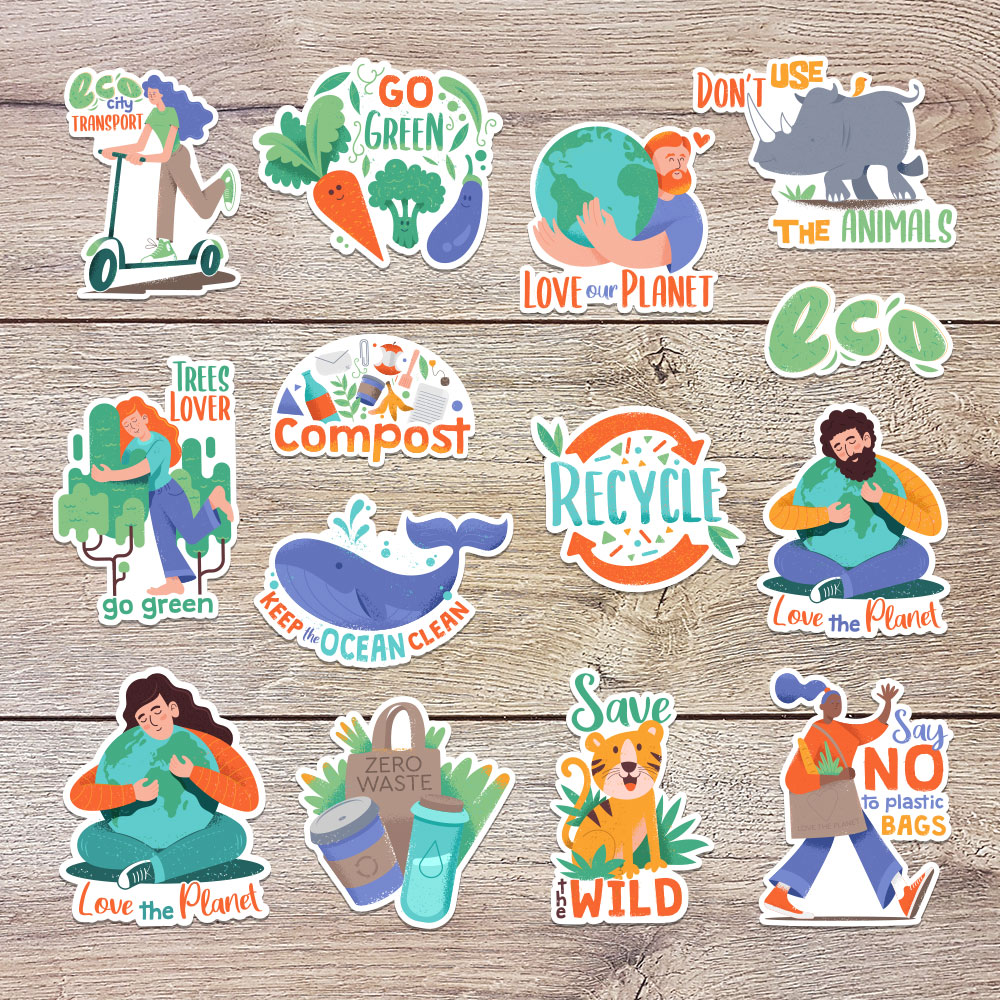 Earth Day Sticker Bundle example