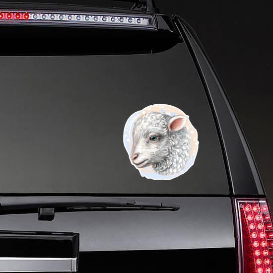 Lamb Artistic Color Portrait Sticker