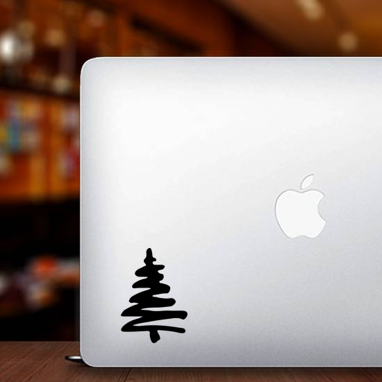 Abstract Christmas Tree Sticker