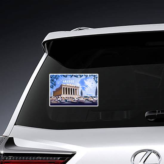 Acropolis Hill In Athens Sticker example