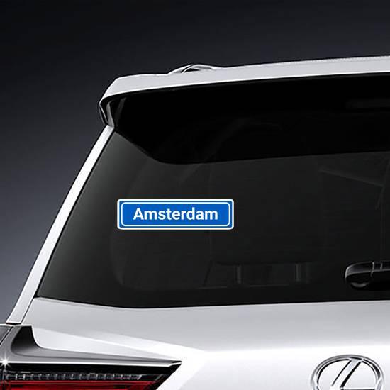 Amsterdam City Sign Sticker example
