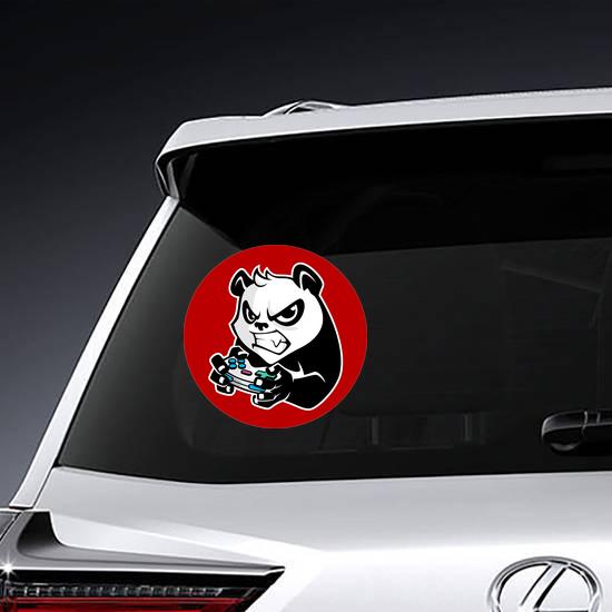 Angry Gamer Panda Sticker