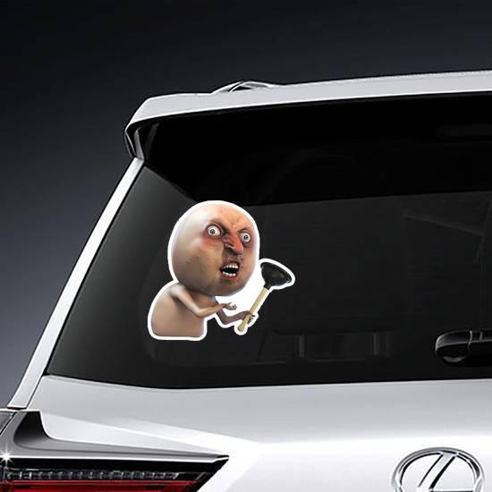 Y U No Meme Sticker example