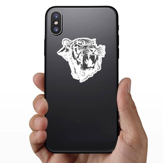 Angry Tiger Growling Sticker