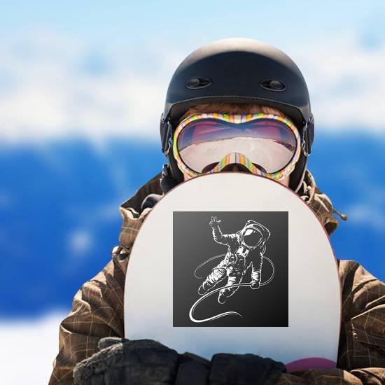 Astronaut Black And White Illustration Sticker