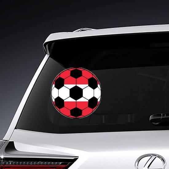 Austria Flag And Football Ball Sticker example