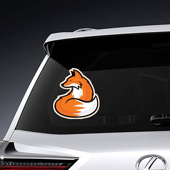 Awesome Fox Mascot Sticker