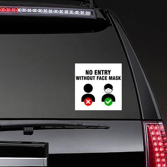 No Mask No Entry Sticker