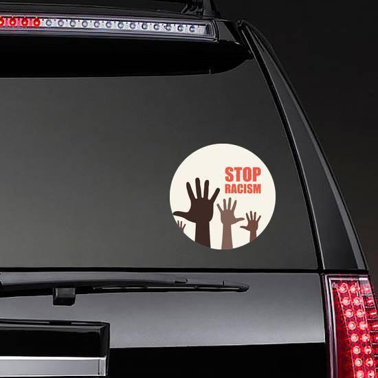 Stop Racism Icon Sticker example