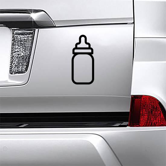 Baby Bottle Vector Icon Sticker