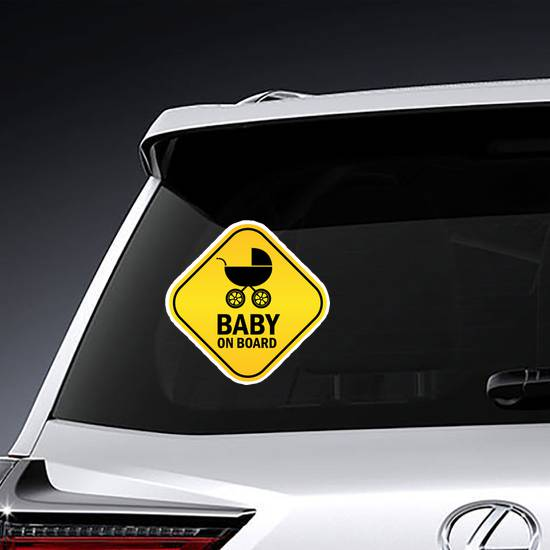 Baby On Board Rounded Square Sticker example
