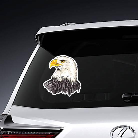 Bald Eagle Head Sticker example