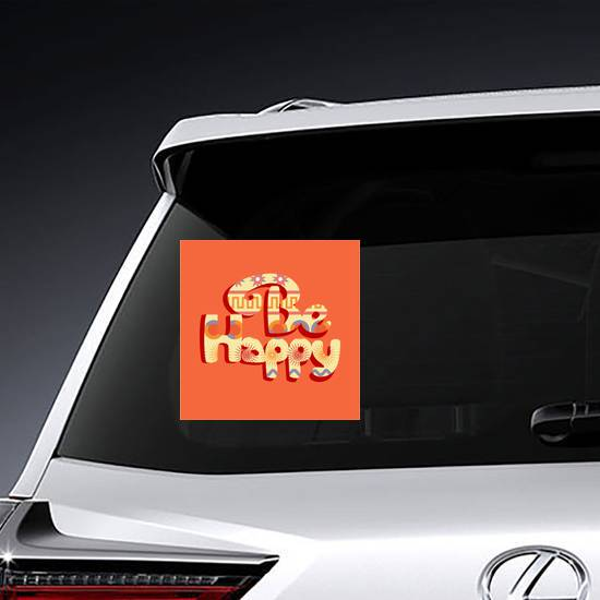 Be Happy Hippie Sticker example