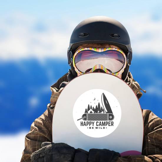 Be Wild Camping Pocketknife Sticker