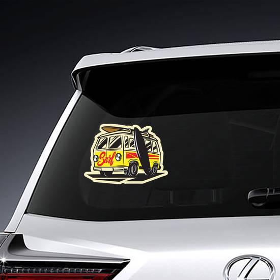 Beach Surfer Bus Sticker