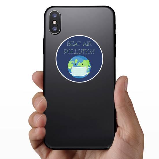 Beat Air Pollution Earth Sticker