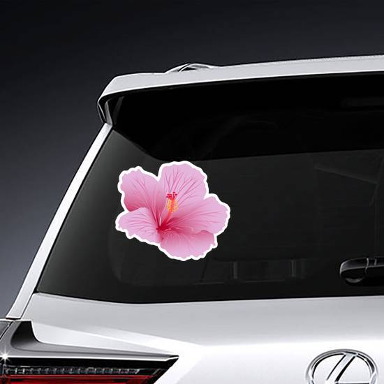 Beautiful Blooming Hibiscus Sticker example