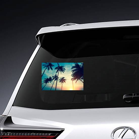 Beautiful Palm Trees Against The Sky Sticker example