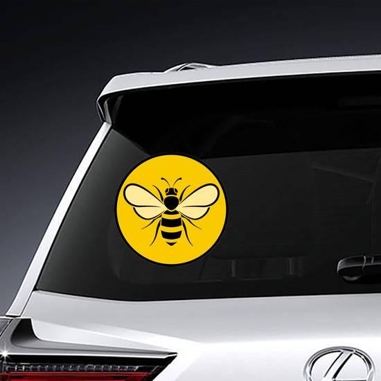 Bee Circle Icon Sticker