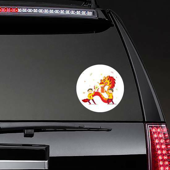 Chinese New Year Dragon on a Rear Car Window example