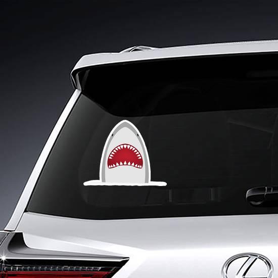 Big Grey Shark Sticker
