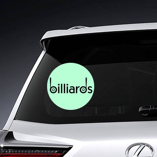 Billiards Design Logos With Ball Sticker