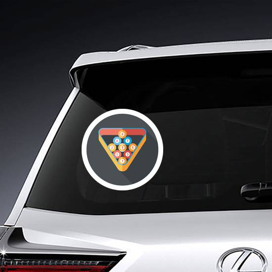 Billiards Flat Icon Sticker