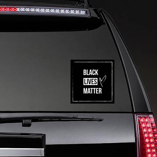 Black Lives Matter Square Sticker example