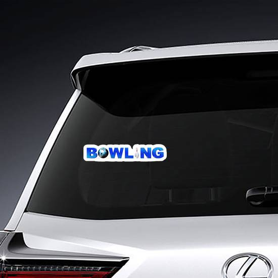 Bowling Game Concept Sticker