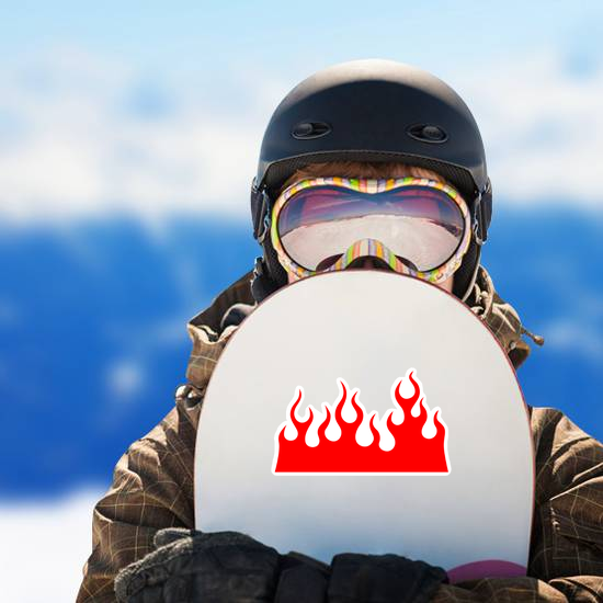 Bright Red Wall of Flames Sticker