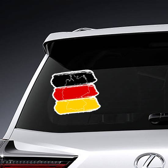 Brush Strokes Flag Of Germany Sticker example