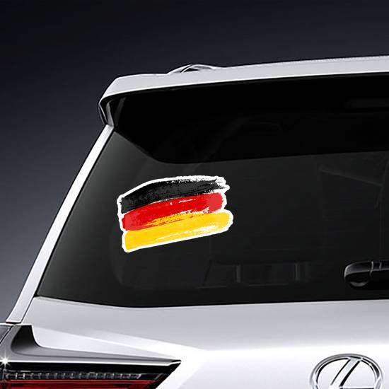 Brush Strokes German Flag Sticker example