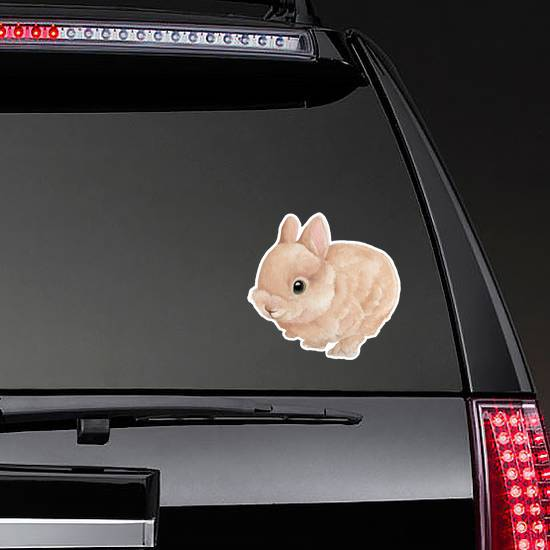 Bunny Watercolor Painting Sticker