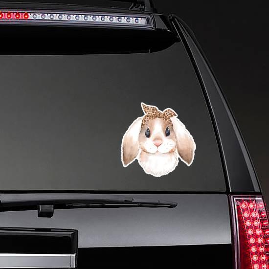 Bunny Wearing Bandana Watercolor Sticker