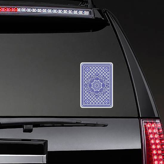 Playing Cards Back Design In Blue Sticker