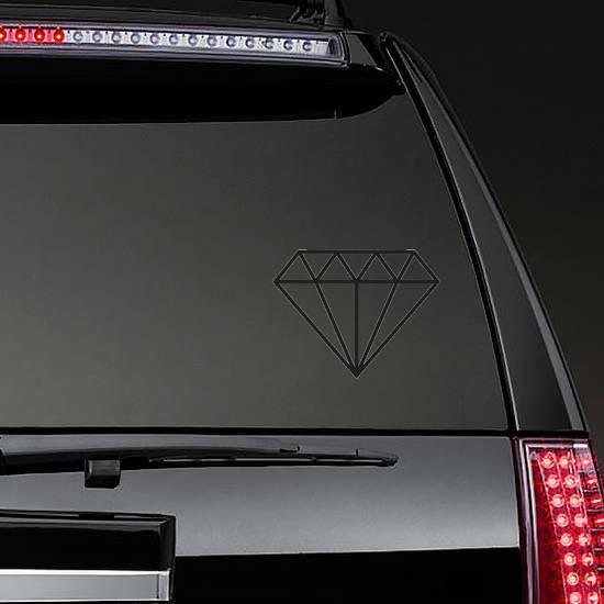Simple Flat Diamond Sticker on a Rear Car Window example