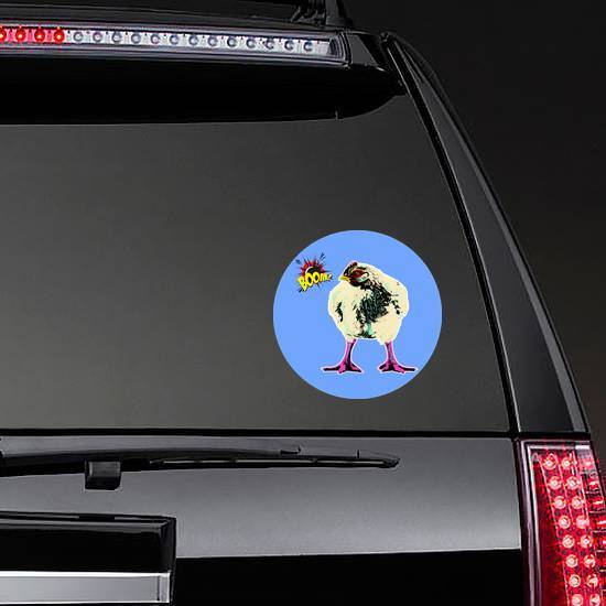 Chicken Of Breed Broiler In Pop Art Style Sticker example