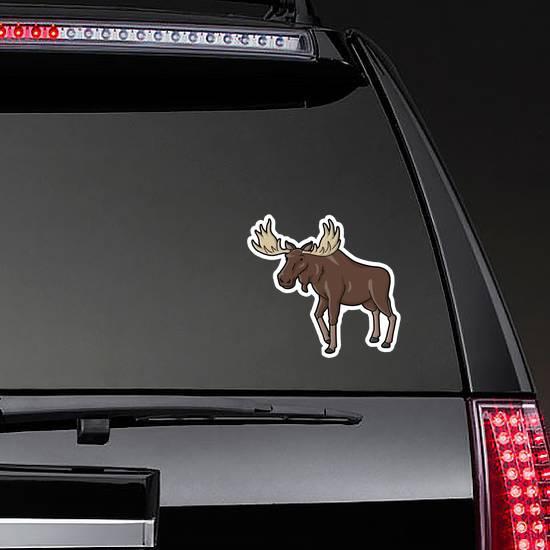 Moose Illustration Sticker