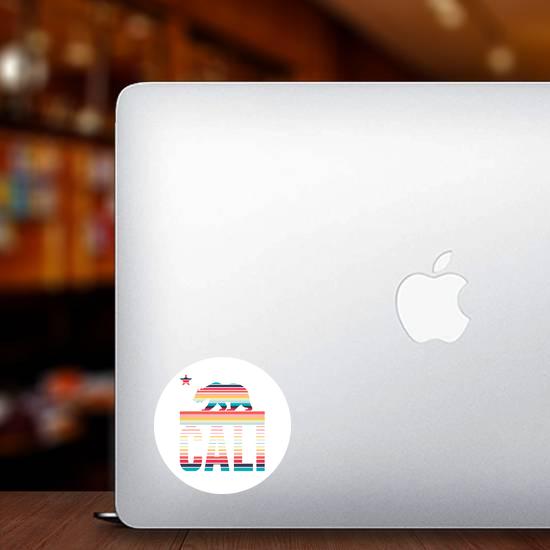 California Rainbow Sticker