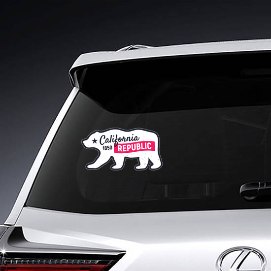 California Republic Bear Sticker