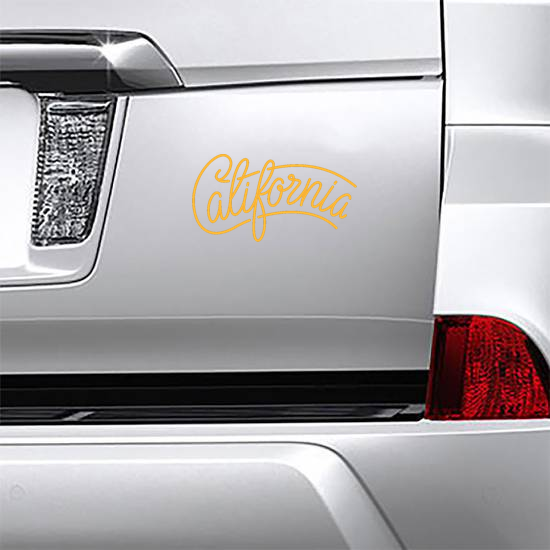 California State Brush Lettering Sticker