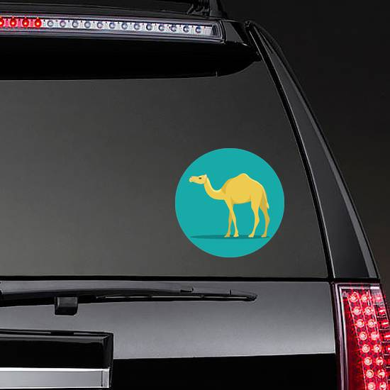 Camel Isolated Teal Sticker