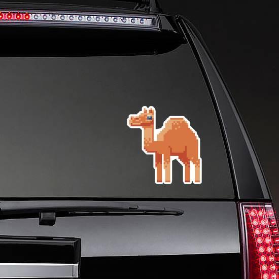 Camel. Pixel Art Character Sticker