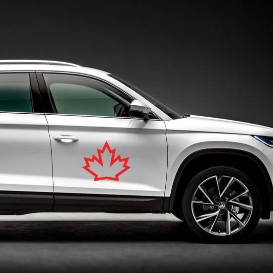 Canada Maple Icon Sticker example