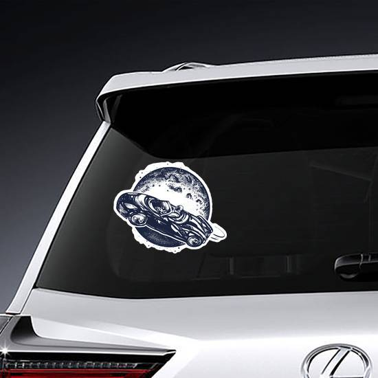 Car In Space Sticker