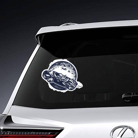 Car In Space Sticker
