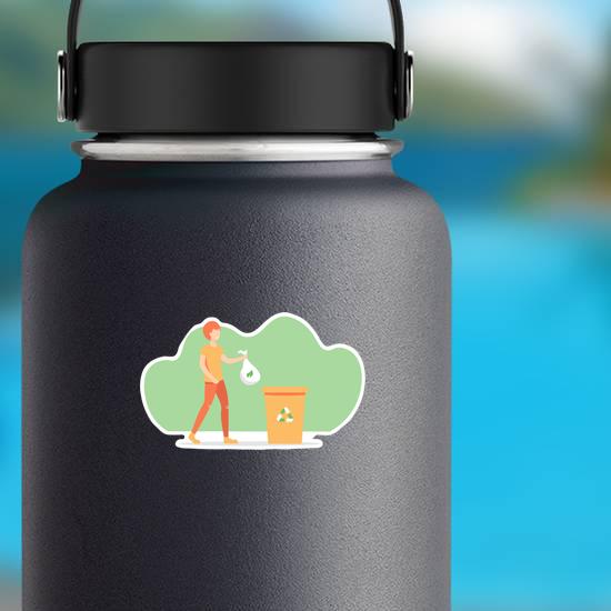 Cartoon Boy Recycling Sticker